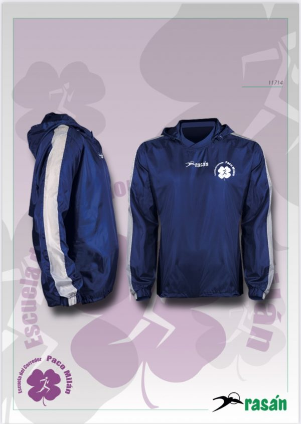 cortavientos ideal para calentar o como prenda de abrigo al terminar el entrenamiento